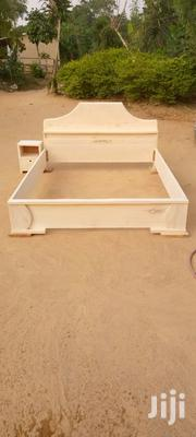 Brand New Wooden Double Bed With Bedside Cabinets   Furniture for sale in Greater Accra, North Kaneshie