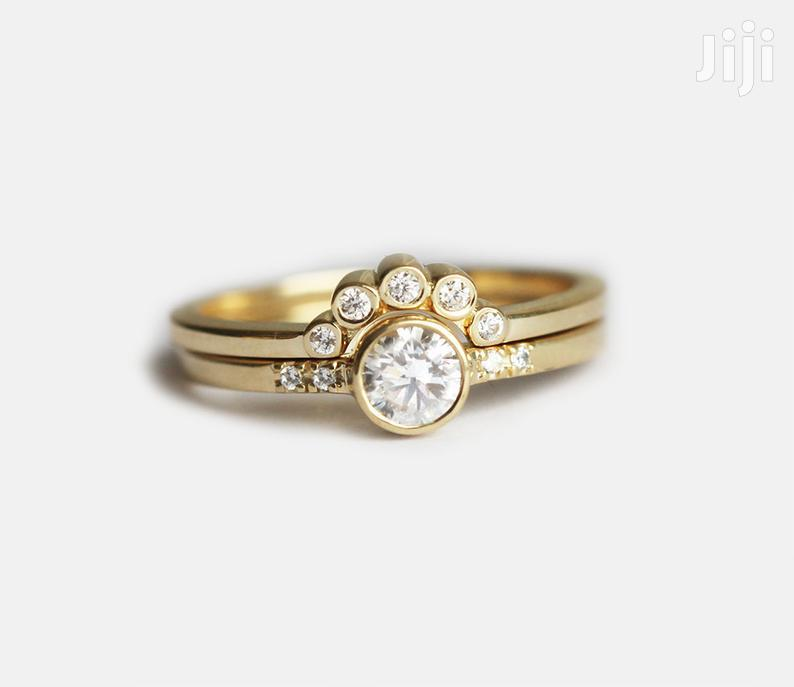 3set 10K Wedding Ring Solid Gold