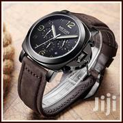 Coffee Leather Megir MENS Chronograph Wristwatches | Watches for sale in Greater Accra, Achimota