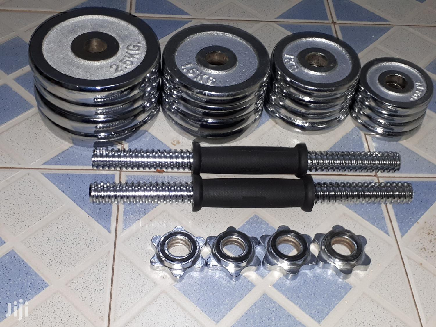 Chrome Dumbbell/Dumbells 25kg | Sports Equipment for sale in Teshie-Nungua Estates, Greater Accra, Ghana