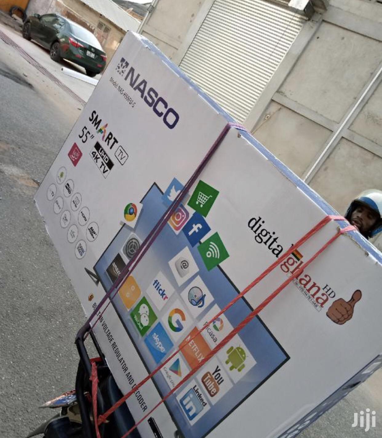 """Quality Nasco 55"""" Uhd Smart 4K Digital Satellite LED TV"""