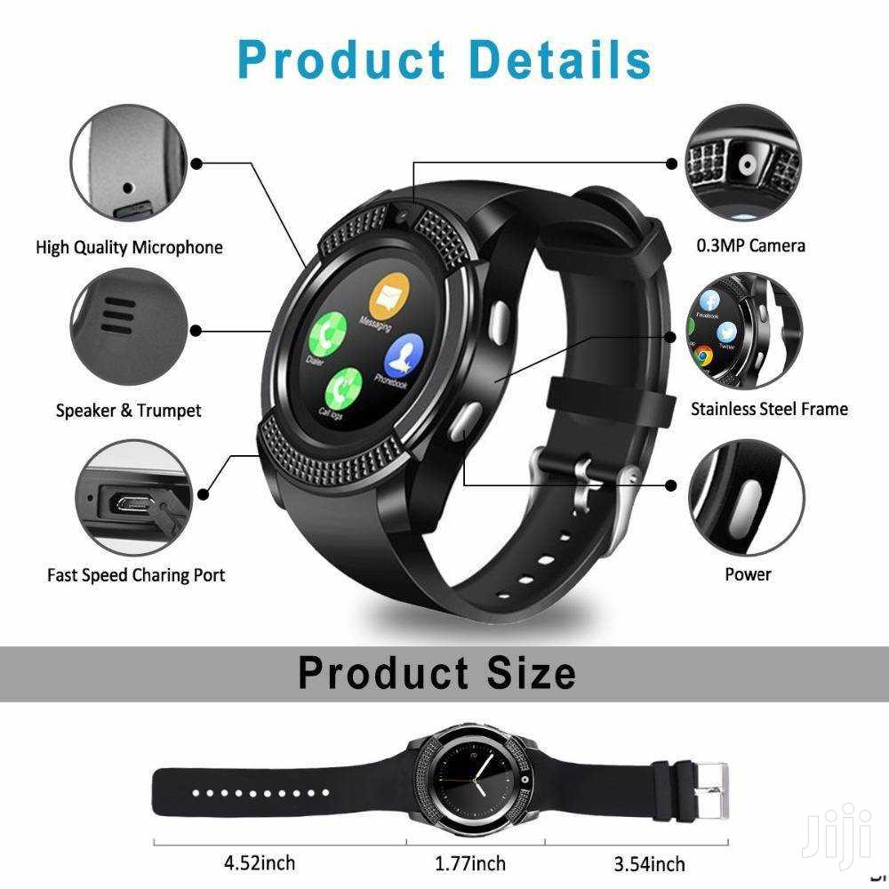 Archive: V8 Smart Phone Watch + Bluetooth Earbud. Sim/Memory Card