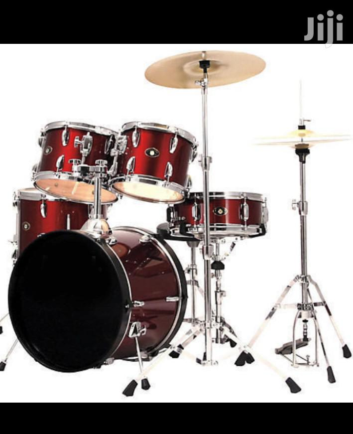 5 Pieces FBT Olympic Drums Set - Wine Red