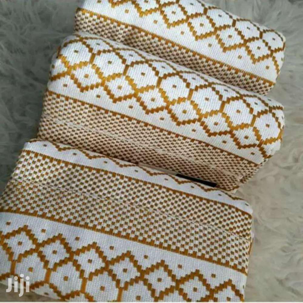 White N Gold Bonwire Hand Weaved Kente