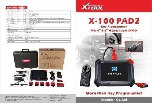 Xtool X100 PAD2 Programmer- Vehicle Diagnostics Training Included