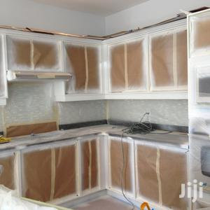 Kitchen Cabinets Spraying. And Order.