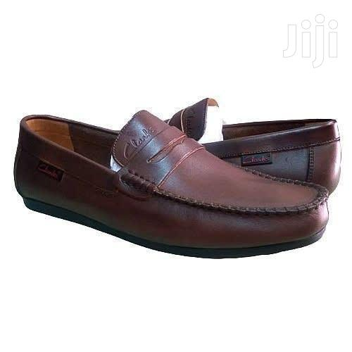 Archive: Clark Leather Brown Loafers