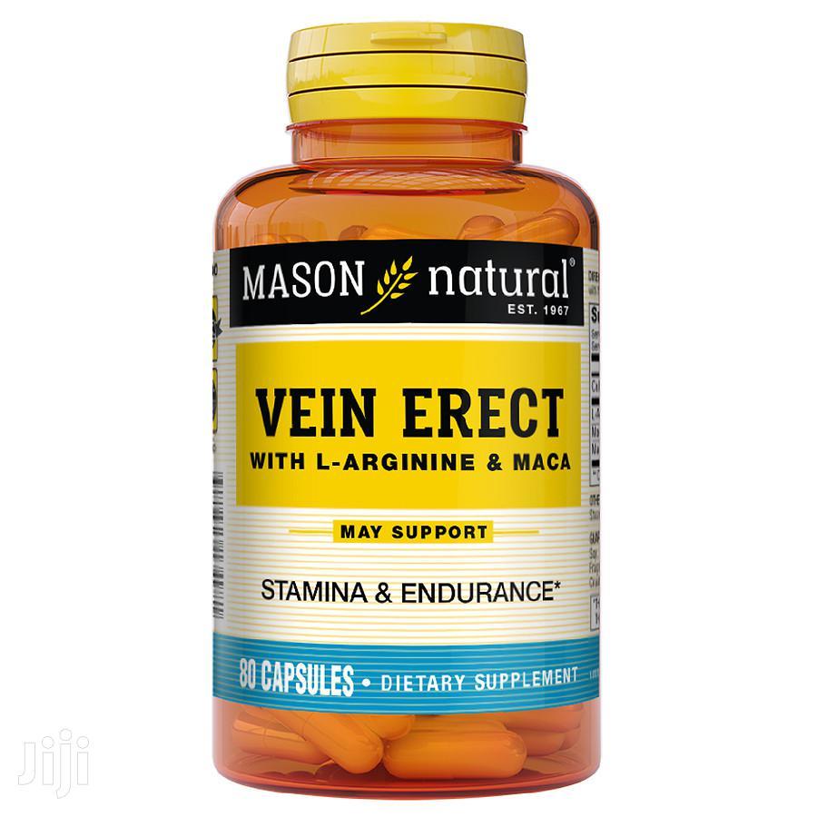 Supplement: Vein Erect With L-arginine & Maca, Sexual Health Capsules
