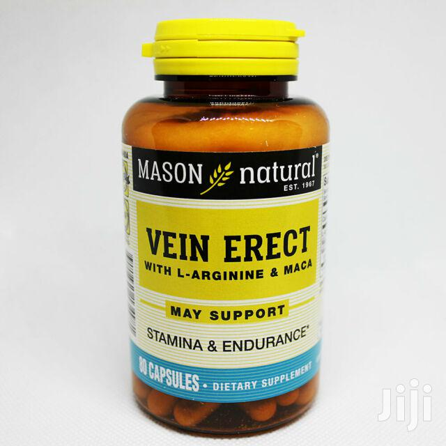 Supplement: Vein Erect With L-arginine & Maca, Sexual Health Capsules | Sexual Wellness for sale in Achimota, Greater Accra, Ghana