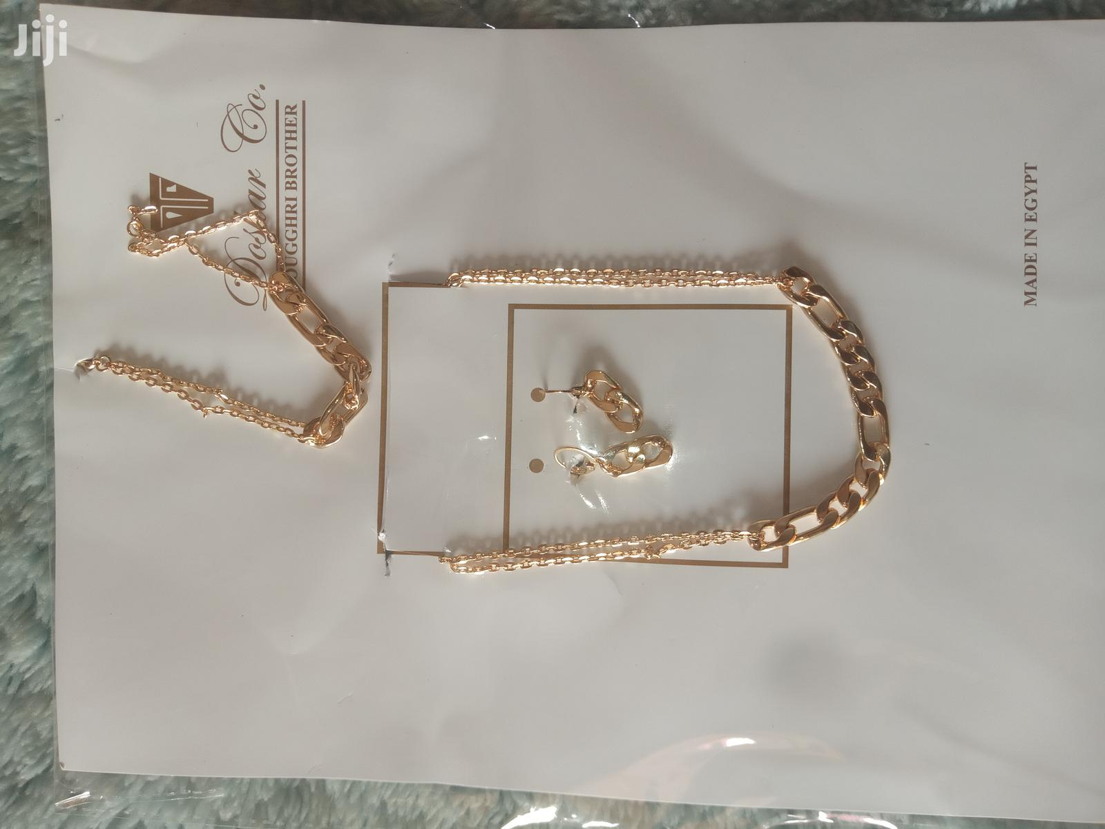 Gold Necklace With Bracelets Earrings | Jewelry for sale in East Legon (Okponglo), Greater Accra, Ghana