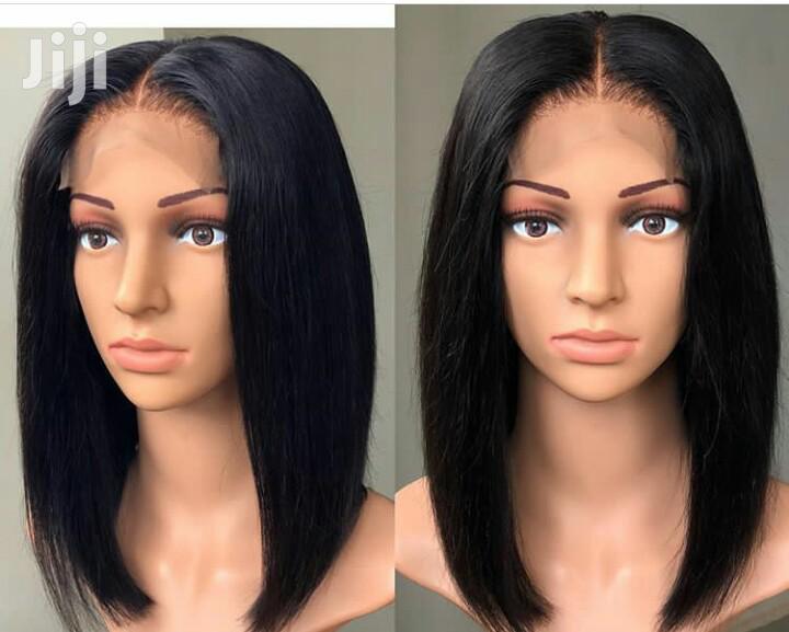 12 Inches Indian Hair Blunt Cut Bob