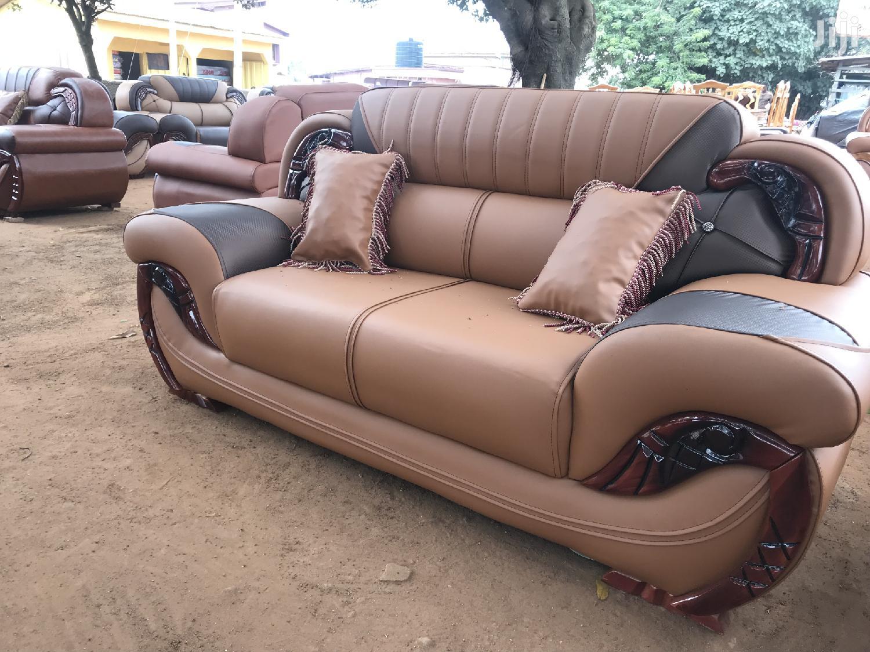 Quality Leather Room Sofa   Furniture for sale in Kumasi Metropolitan, Ashanti, Ghana
