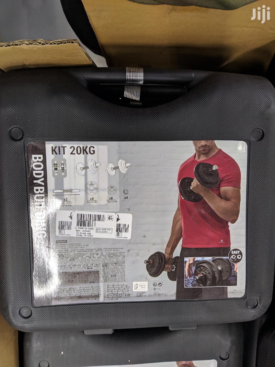 20kg Adjustable Dumbbells Set With Case | Sports Equipment for sale in Korle Gonno, Greater Accra, Ghana