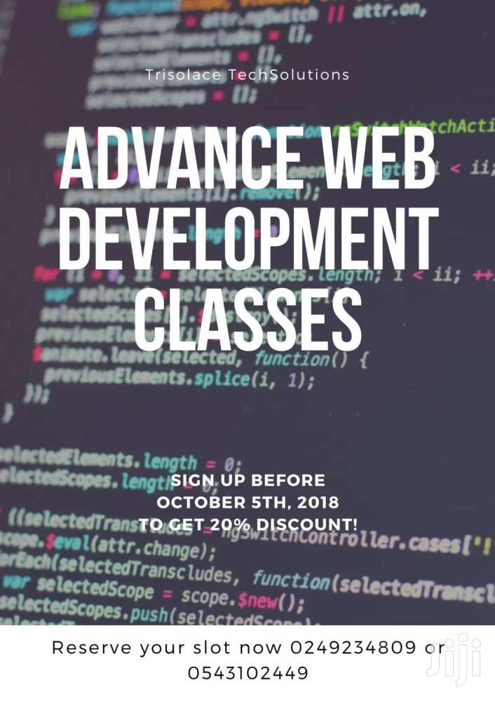 Join Our Advanced Website Development Class And Get A Job? | Classes & Courses for sale in Asuogyaman, Eastern Region, Ghana