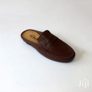 Top Quality Clarks Black Leather Half Loafers Shoe | Shoes for sale in Greater Accra, Ashaiman Municipal