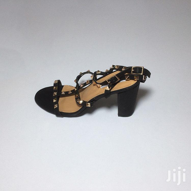 Quality Steve Madden Black Spiked Block Heel Strap | Shoes for sale in Ashaiman Municipal, Greater Accra, Ghana