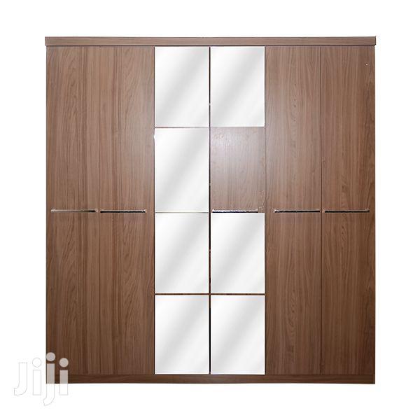 Wooden Wardrobe 6 Doors 2 Drawers