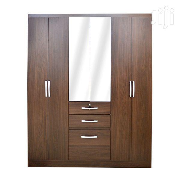 6 Doors Wooden Wardrobe 3 Drawers