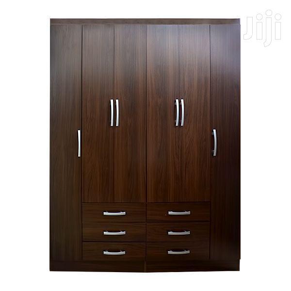 Wooden Wardrobe 6 Doors & 6 Drawers