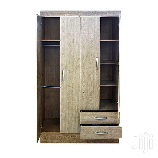 Wooden Wardrobe Doors 6 Drawers