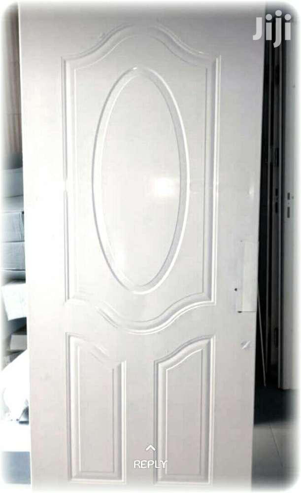 Metal Coated Internal Building Door With Frame And Locks