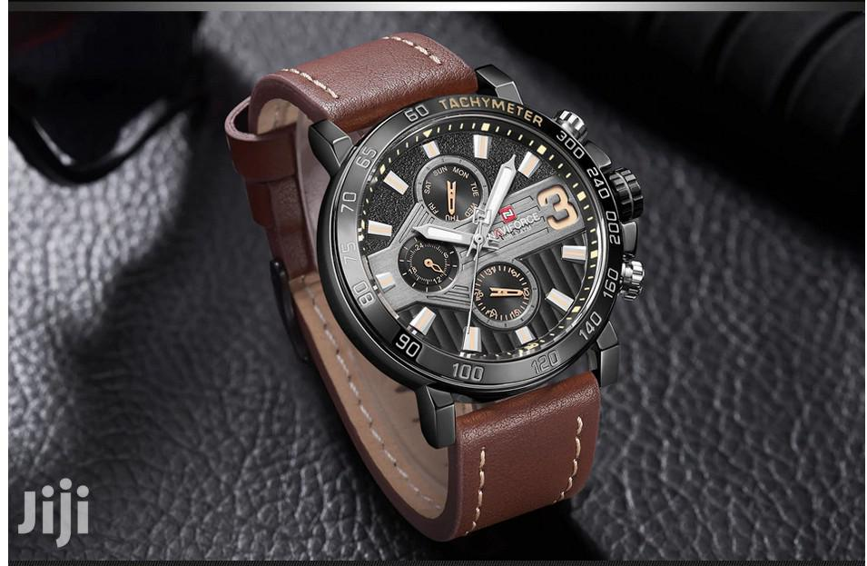 Naviforce Men's Brown Leather Watch