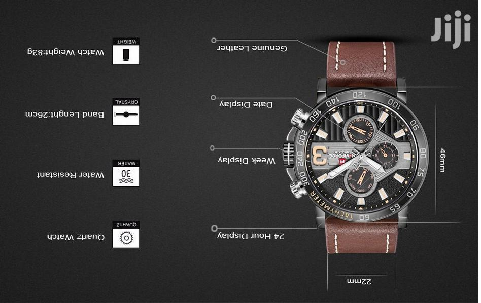 Naviforce Men's Brown Leather Watch | Watches for sale in Achimota, Greater Accra, Ghana