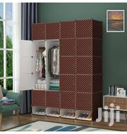 20 Cube Plastic Wardrobe With 4 Cube Shoe Rack - Brown | Furniture for sale in Greater Accra, Tema Metropolitan