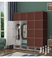 16 Cube Plastic Wardrobe With 4 Cube Shoe Rack - Brown | Furniture for sale in Greater Accra, Tema Metropolitan