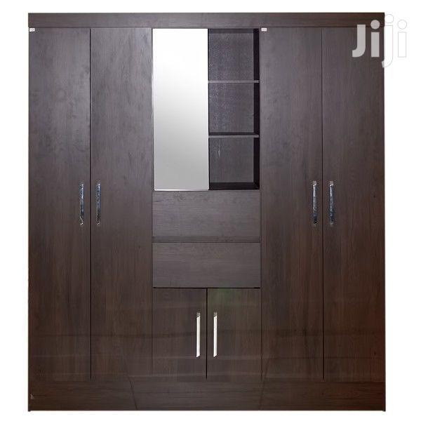 Wardrobe 6 Doors Capela Ebony