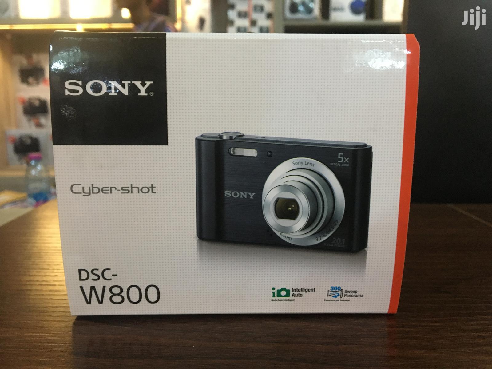 Sony Cyber-shot Digital Camera Black (DSC-W800)