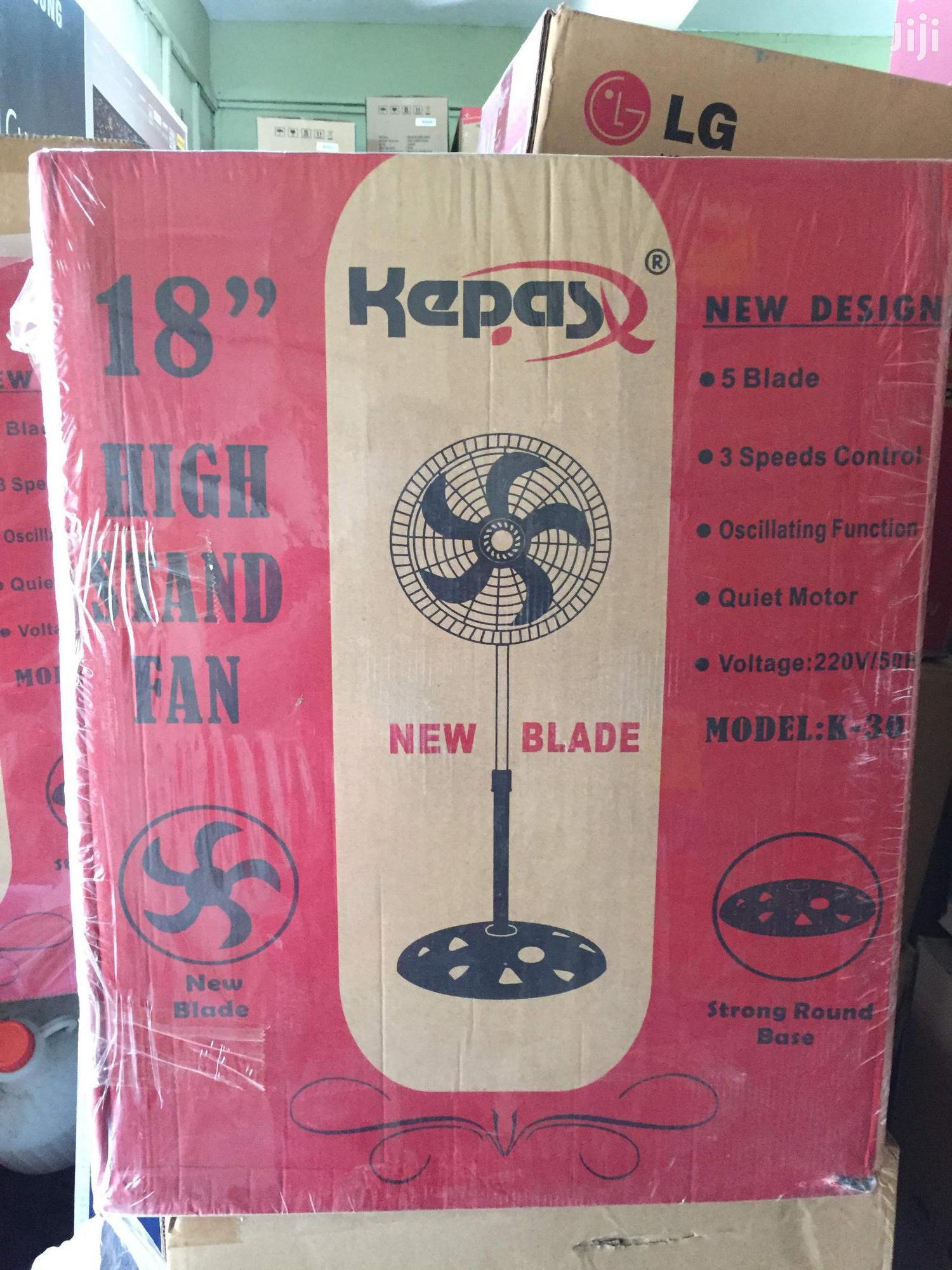 Long Lasting Kepas 5 Blade Standing Fan