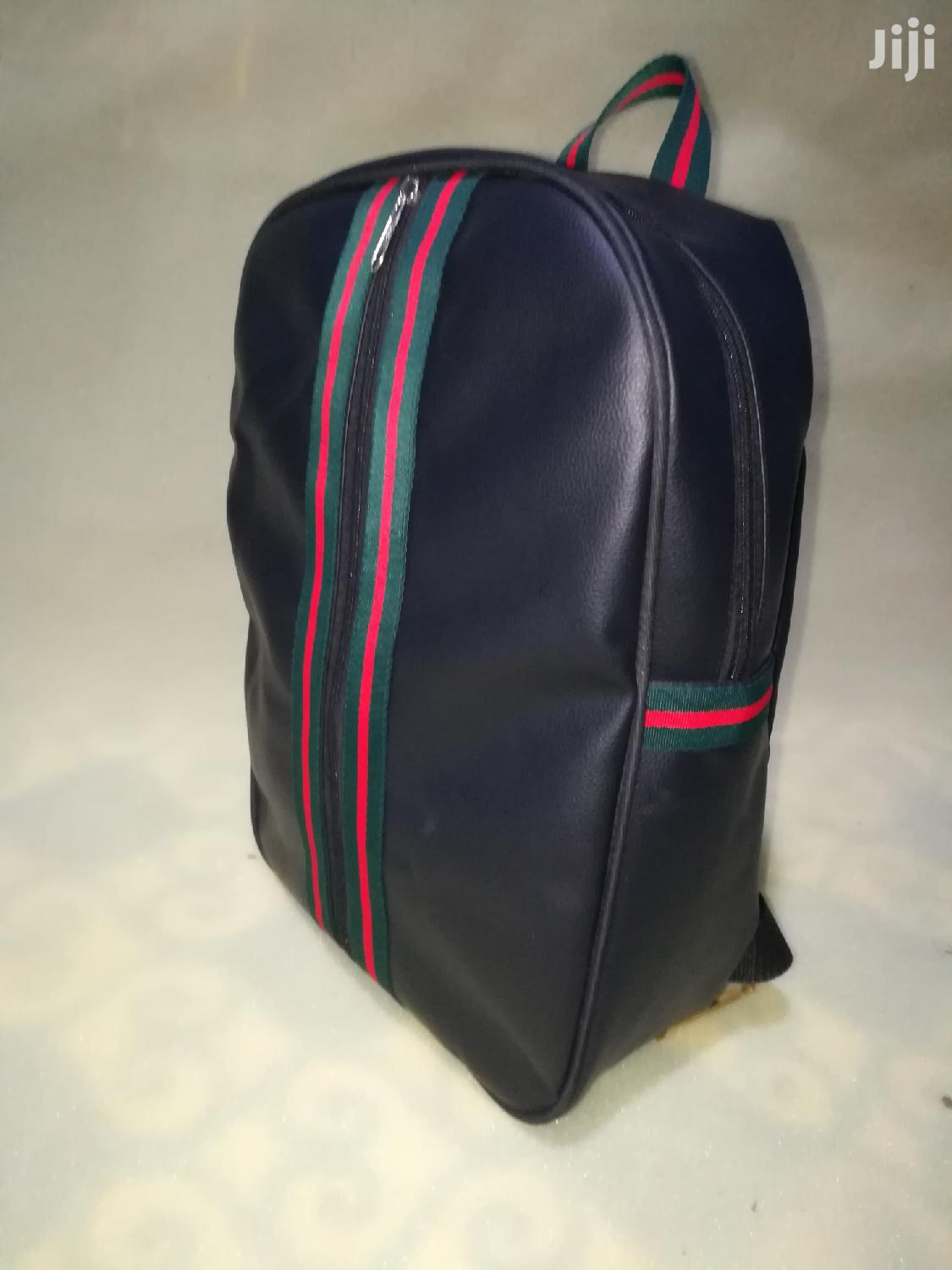 Black Leather Gucci Backpack