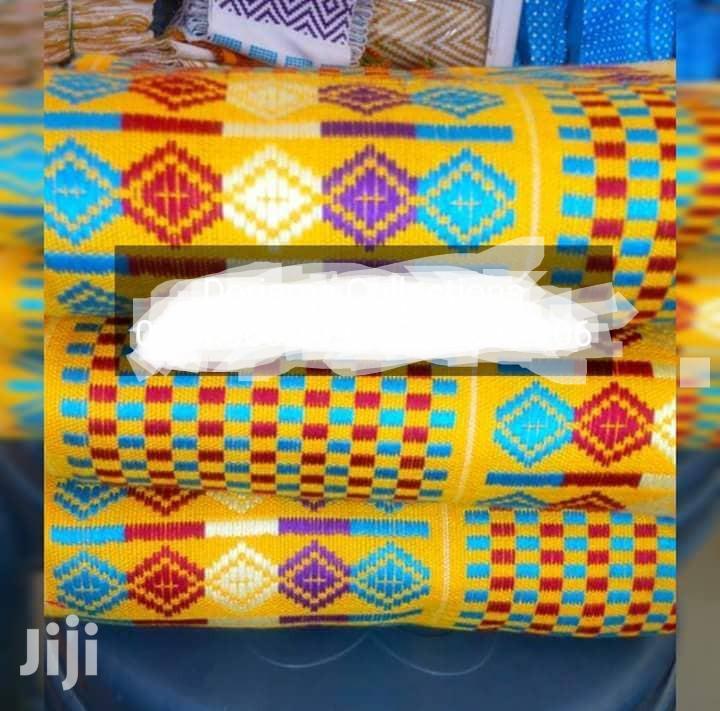 Beautiful Yellow Bonwire Kente Cloth