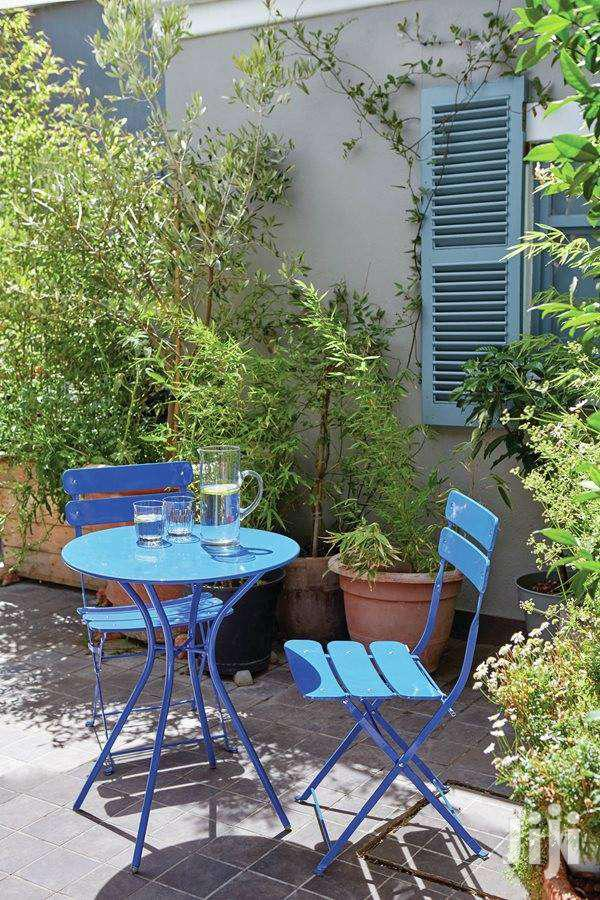 Garden Solid Metal Chairs New Table Set Folding Type Set. Long Last