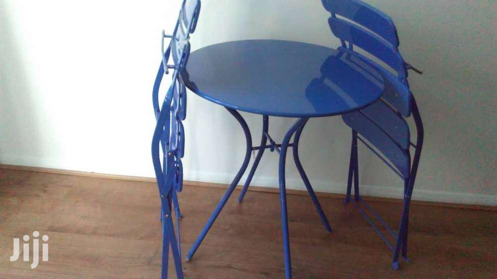 Garden Solid Metal Chairs New Table Set Folding Type Set. Long Last   Furniture for sale in Tema Metropolitan, Greater Accra, Ghana