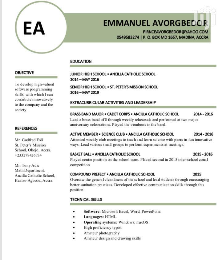 Advertising & Marketing CV