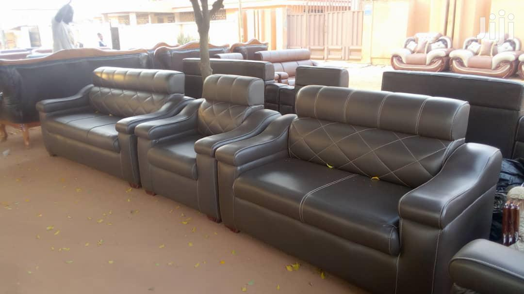 VIP Leather Living Room Furniture Sofa Set