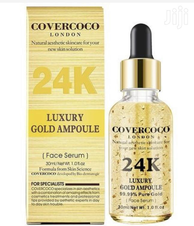 Covercoco 99.99% 24kgold Silky Luxury Ampoule Gold - FACE SERUM