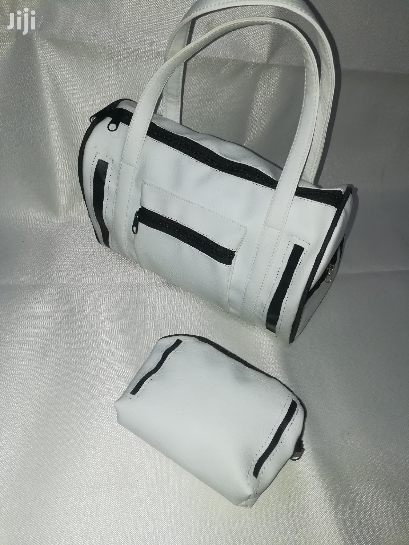 Quality White/Black Ladies Handbag