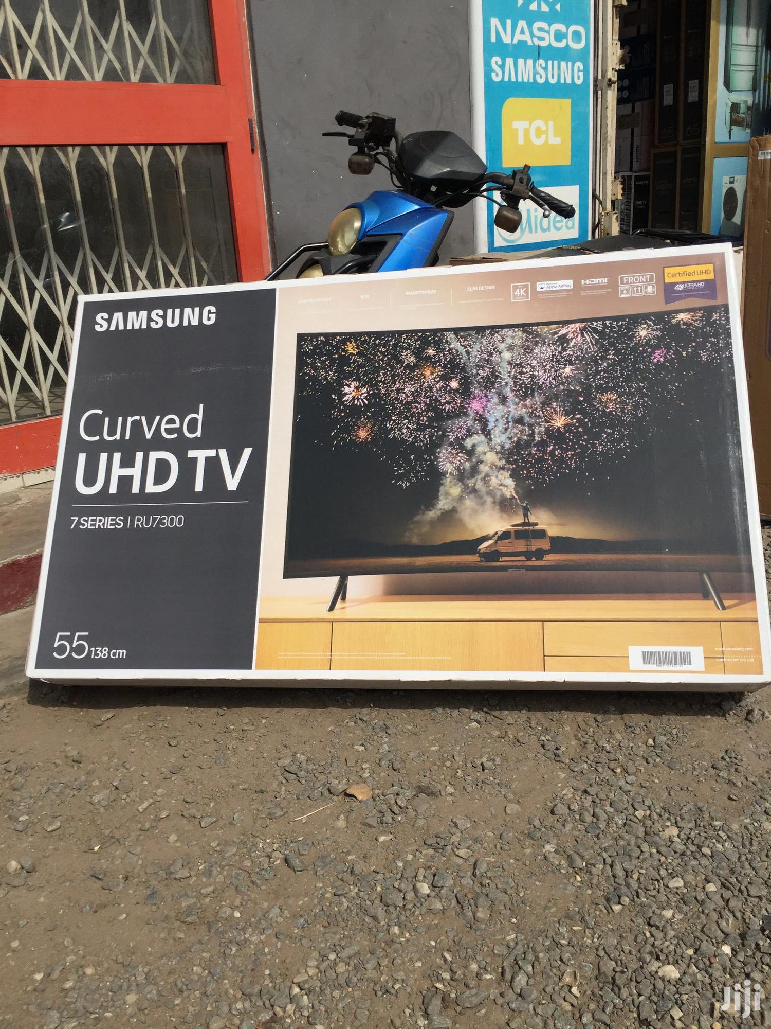 "Smart Connection Samsung 55""Curved Smart Satellite 4K UHD Television"