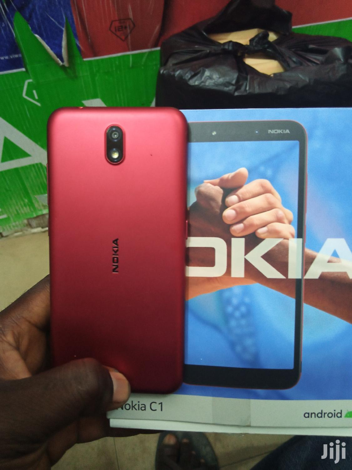 New Nokia C1 16 GB Red | Mobile Phones for sale in Adabraka, Greater Accra, Ghana