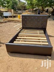 Brown Leather Double Leather Bed | Furniture for sale in Greater Accra, Achimota