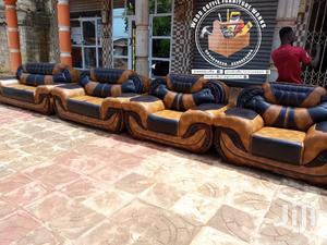 Lovely Bright Leather Sofa Furniture | Furniture for sale in Ashanti, Kumasi Metropolitan