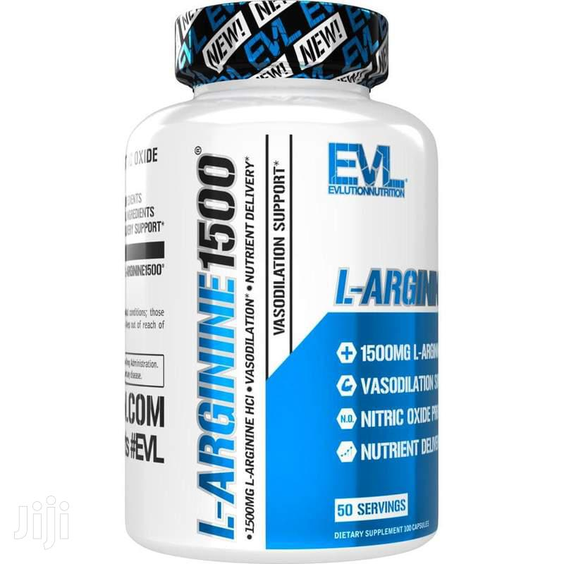 Supplement: Evlution Nutrition L-Arginine 1500 Mg | Vitamins & Supplements for sale in Achimota, Greater Accra, Ghana