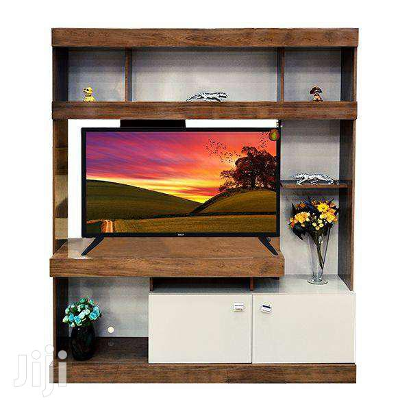 ENTERTAINMENT UNIT IDEAL PECAN & OFF WHITE | Furniture for sale in Adenta Municipal, Greater Accra, Ghana
