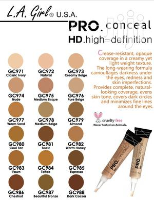 L. A Girl Concealers