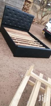 Black Leather Bed | Furniture for sale in Greater Accra, East Legon