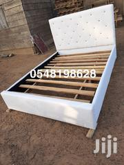 White Double Leather Bed 🛏 ❤ ❤ 🖤 | Furniture for sale in Greater Accra, Achimota
