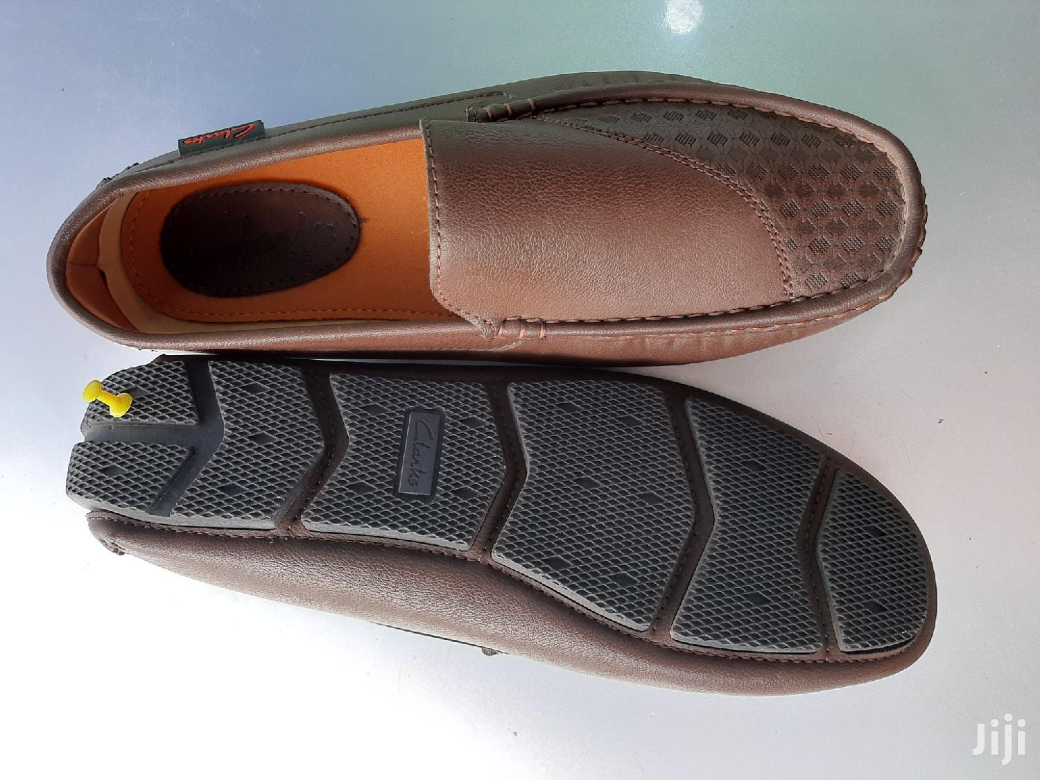 Patent Leather Clarks Loafers-Brown-Sz 40 | Shoes for sale in Ga West Municipal, Greater Accra, Ghana